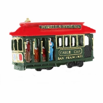Cable Car Poly Magnet With People