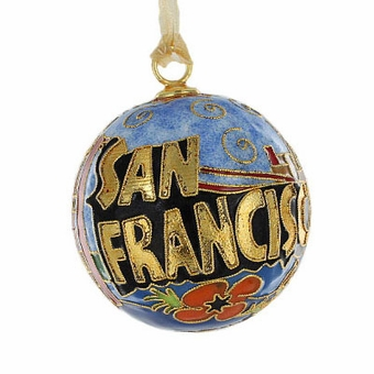San Francisco Cloisonne Ornament