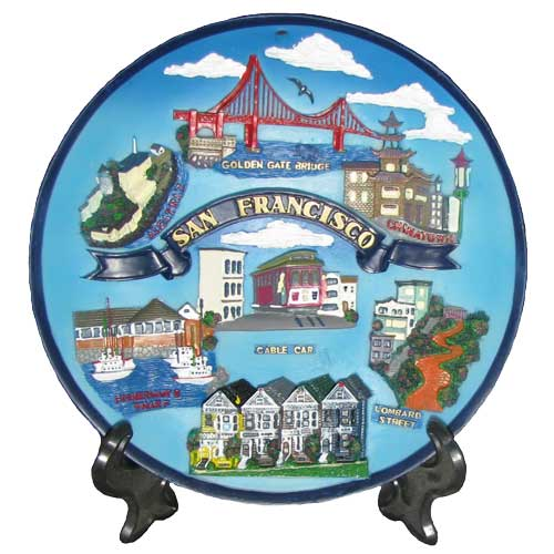 San Francisco Multi Icon Souvenir Plate