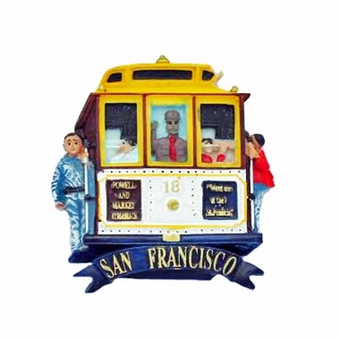 San Francisco Cable Car Front Row Magnet