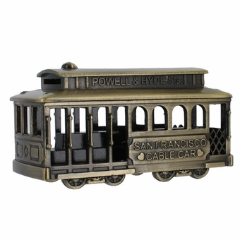 San Francisco Cable Car Pewter Model in Antique Bronze Coloring