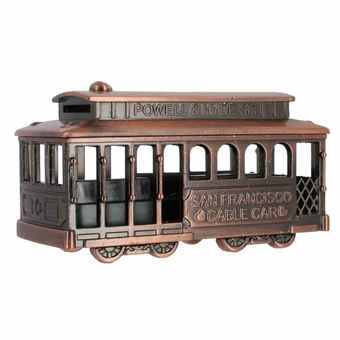 San Francisco Cable Car Pewter Model in Copper
