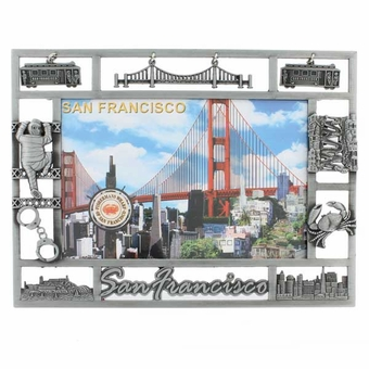 "San Francisco ""Charms"" Picture Frame: Pewter."
