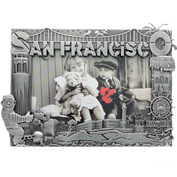 San Francisco City Guy Metal Picture Frame