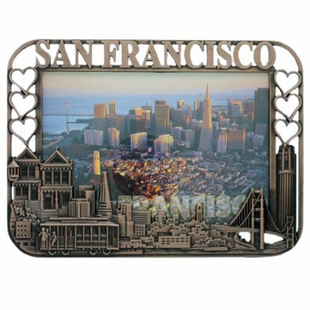 San Francisco City Hearts Copper Picture Frame