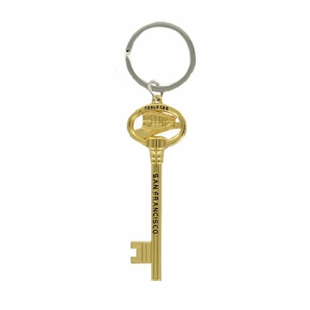 Key To City Key Chain Gold Color