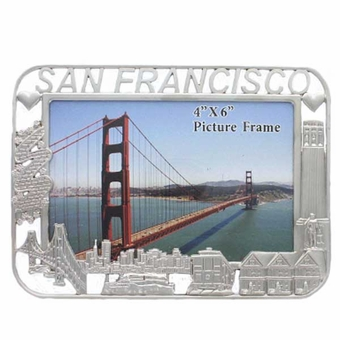 San Francisco City Silver Frame