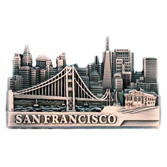 San Francisco City View Copper  Souvenir Magnet