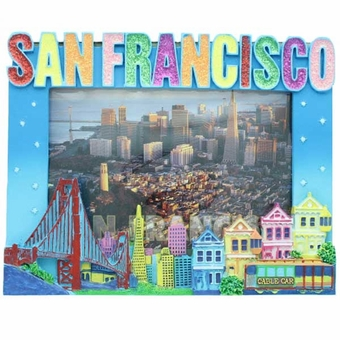 San Francisco Collage Picture Frame Glitter