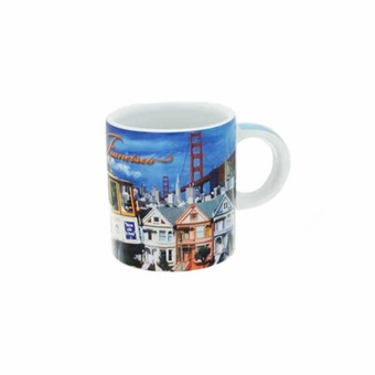 San Francisco Collage Mini Mug: 2 oz