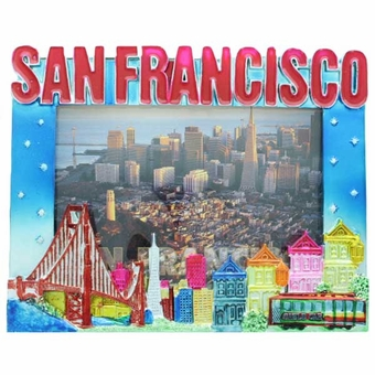 San Francisco Collage Shiny Picture Frame