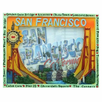 San Francisco Double Souvenir  Bridge Frame