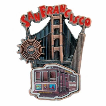 San Francisco Four Icons Magnet