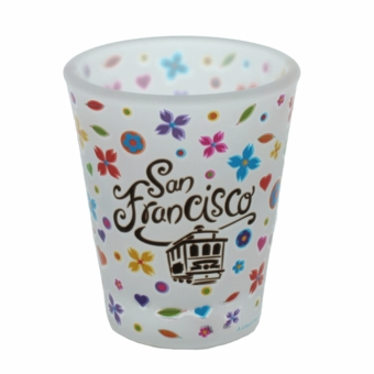 San Francisco Frosted Flowers Shotglass