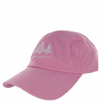 San Francisco Golden Gate Bridge Angle Unstructured Pink Hat
