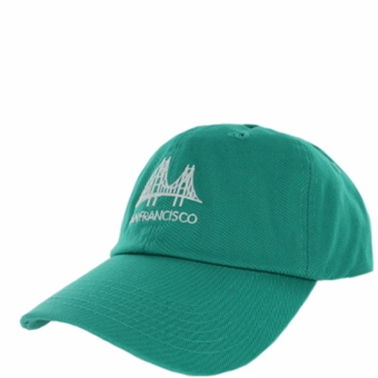 San Francisco Golden Gate Bridge Angle Unstructured Turquoise Hat
