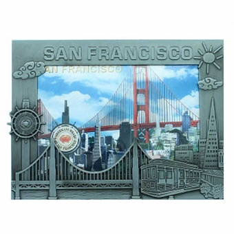 "San Francisco Icon 5"" Souvenir Pewter Frame"