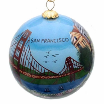 San Francisco Icons Hand Painted Glass Ornament