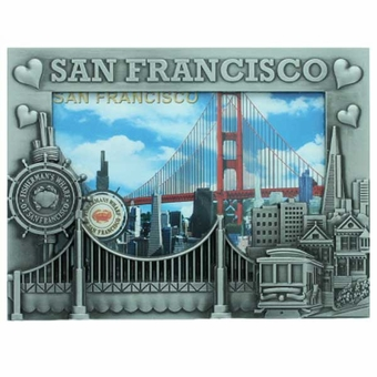 San Francisco Icons With Hearts Picture Frame