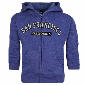 San Francisco Kids ZIG ZAG Design Heather Royal Color.