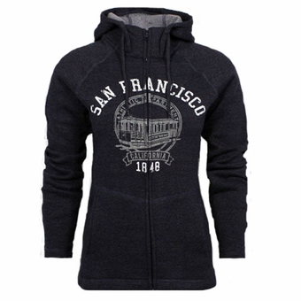 San Francisco Ladies Multi Panel Fleece Heather Eggplant Color