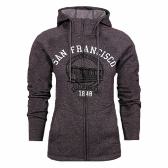 San Francisco Ladies Multi Panel Fleece Heather Plum Color