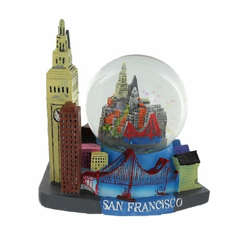 San Francisco Large Snow Globe Landmarks