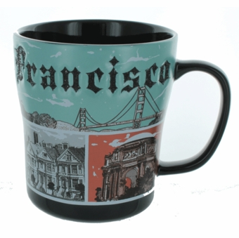 San Francisco Metallic Etched Mug