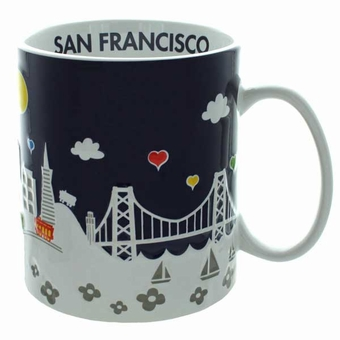San Francisco Midnight Puff Mug: 18 oz