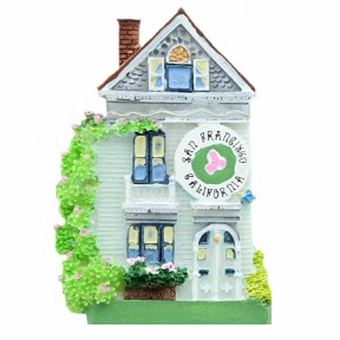 San Francisco Painted Ladies House Magnet