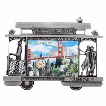 San Francisco Pewter Cable Car Frame
