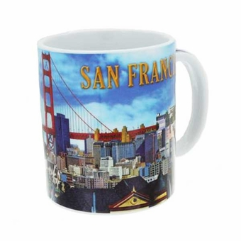 San Francisco Photo Collage  Mug: 12 oz