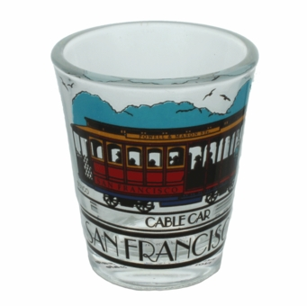 San Francisco Red and Black Cable Car Shotglass