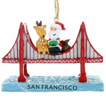Reindeer With Santa on Top of Golden Gate