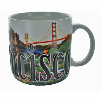 San Francisco Relief Color Mug: 18 oz