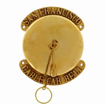 San Francisco Round Conductor Cable Car Bell