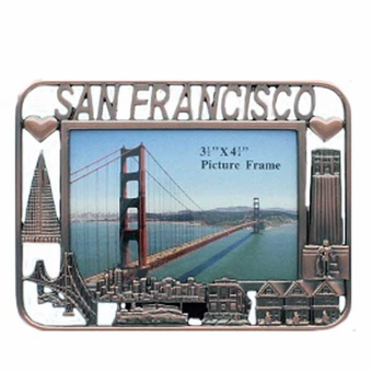 San Francisco Small Copper Square Frame