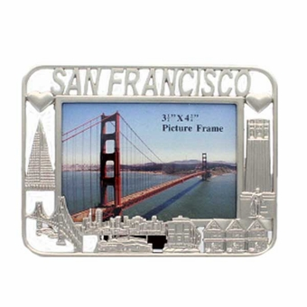 San Francisco Small Silver Square Frame