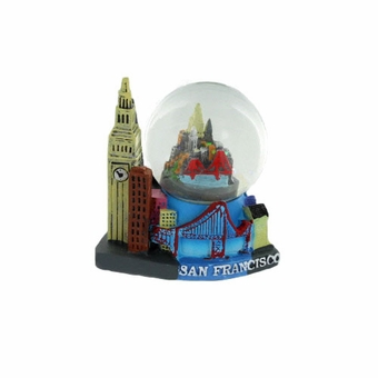 San Francisco Small Snow Globe Popular Landmarks