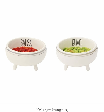 2 Pc Set of Salsa & Guacamole Bowls