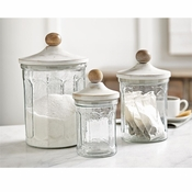 3 Pc Glass Canister Set - Shipping March