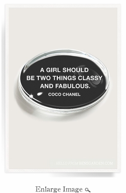 A Girl Should Be Two Things Crystal Oval Paperweight