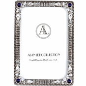 Alan Lee Imperial Collection 4 X 6 Picture Frame Bermuda Blue