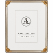 Alan Lee Imperial Collection 8 X 10 Lotus Flower Filigree Picture Frame Brass Multi