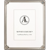 Alan Lee Imperial Collection 8 X 10 Lotus Flower Filigree Picture Frame Silver Multi