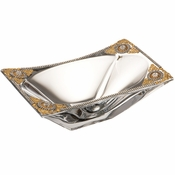Alan Lee Imperial Collection Filigree 7 X 11 Rectangle Bowl Brass