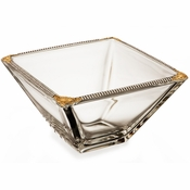 Alan Lee Imperial Collection Filigree 8In Square Bowl Brass