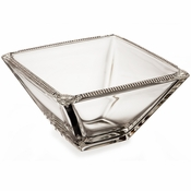 Alan Lee Imperial Collection Filigree 8In Square Bowl Silver