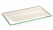 Alan Lee Imperial Collection Filigree Glass Rectangular 8 X 14 Tray Silver