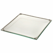 Alan Lee Imperial Collection Filigree Glass Square 9 X 9 Tray Silver
